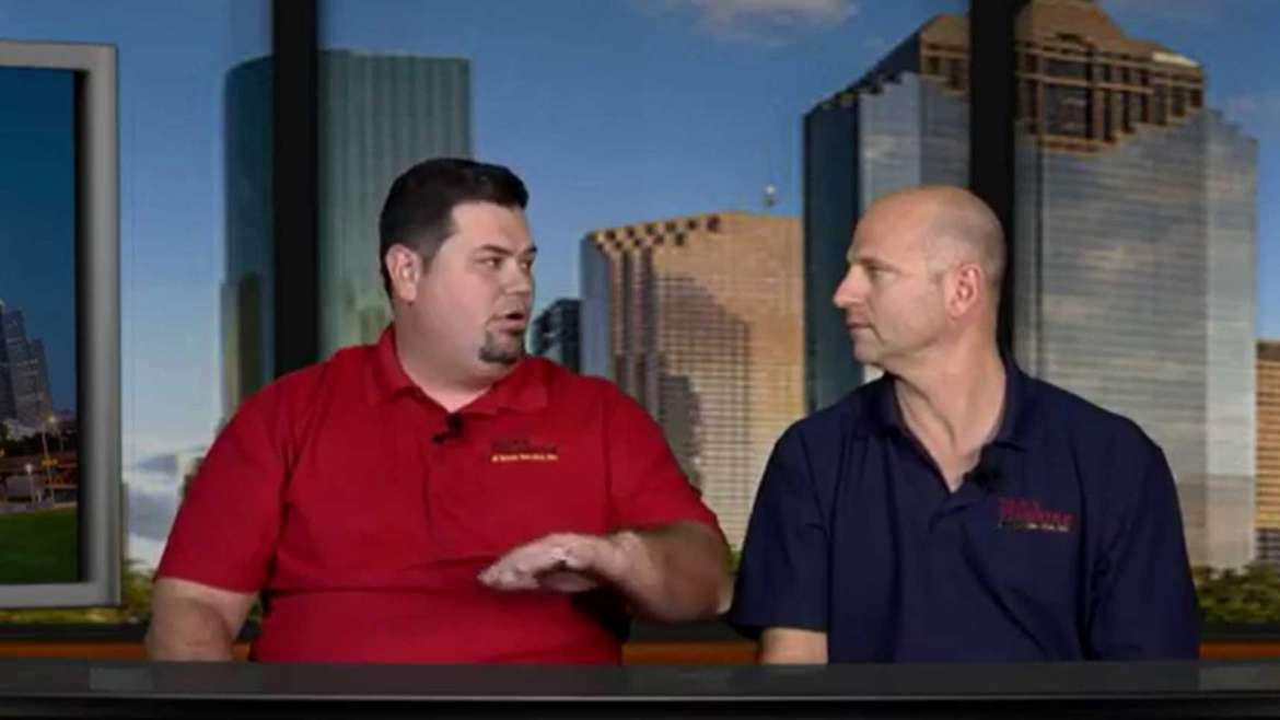 Plumbers Sitting at News Desk in Houston Discuss How To Become a Plumber