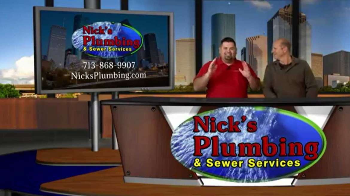 Nick's Plumbing Experts Sit at News Desk in Houston to Discuss Water Heater Maintenance