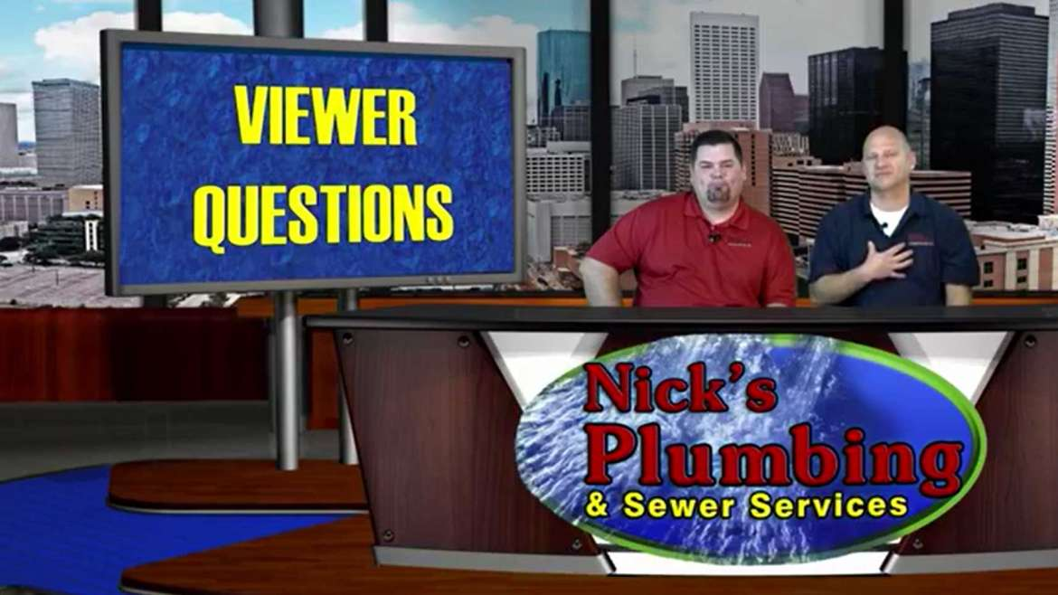 Plumbing Experts Sitting at a News Desk in Houston Answer Common Questions
