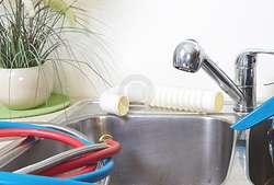 Kitchen Sink in a Bright Houston Home
