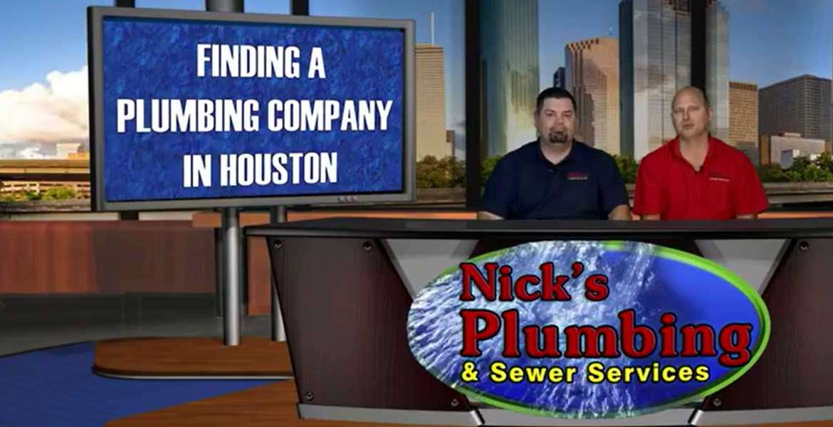 Experts Sitting at a News Desk in Houston Discuss Finding a Plumbing Company Near You