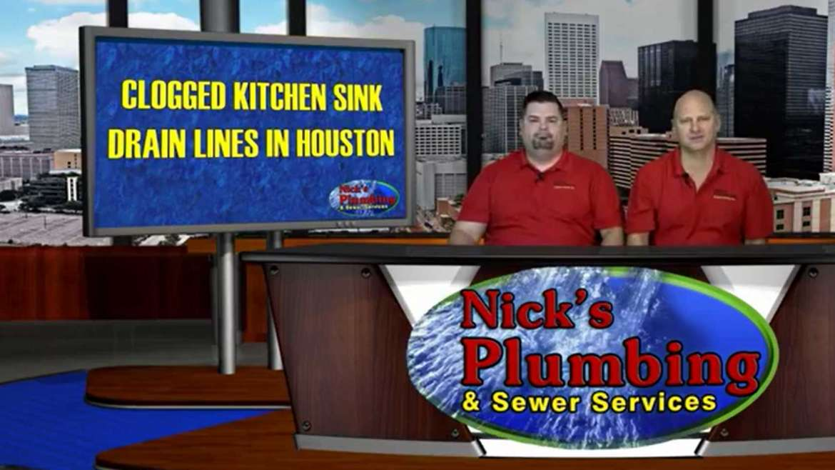 Plumbers Sitting at Houston News Desk Explain Clogged Kitchen Sink Drain Lines