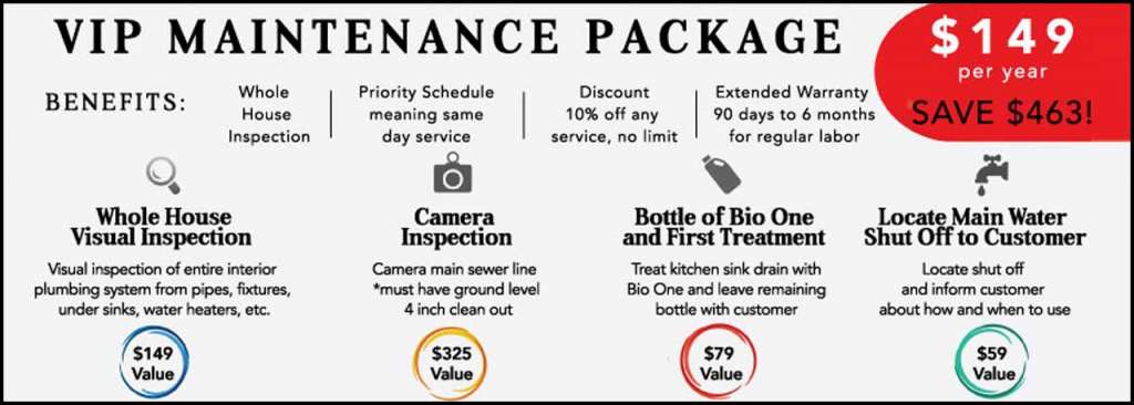 Nick's VIP Houston Maintenance Package is $149 Per Year and Has Many Benefits