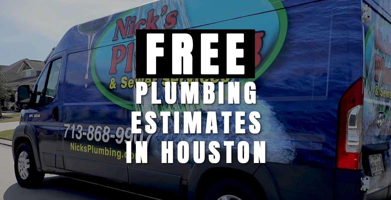 Free Plumbing Estimate in Houston